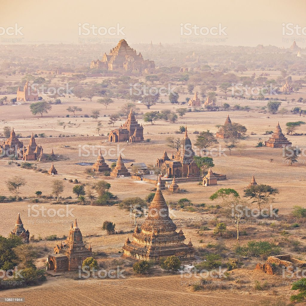 Kingdom of Bagan stock photo
