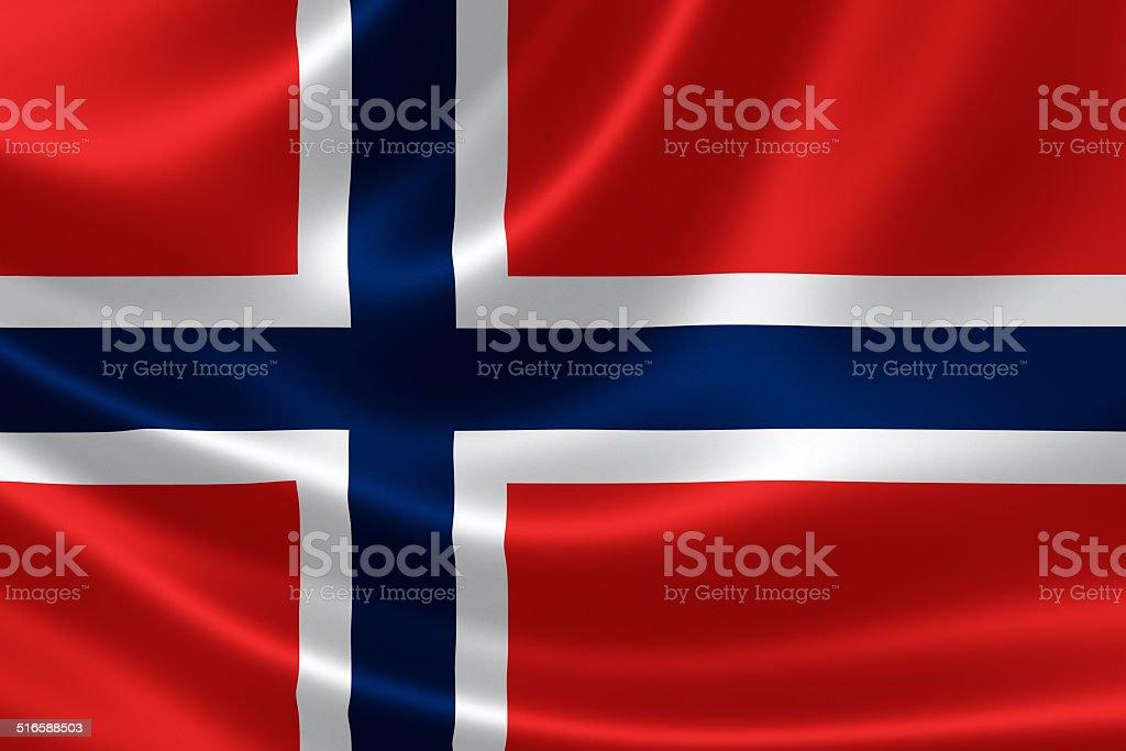 Kingdom of Norway's Flag stock photo