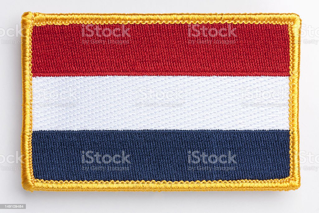 KIngdom of the Netherlands flag Patch. royalty-free stock photo