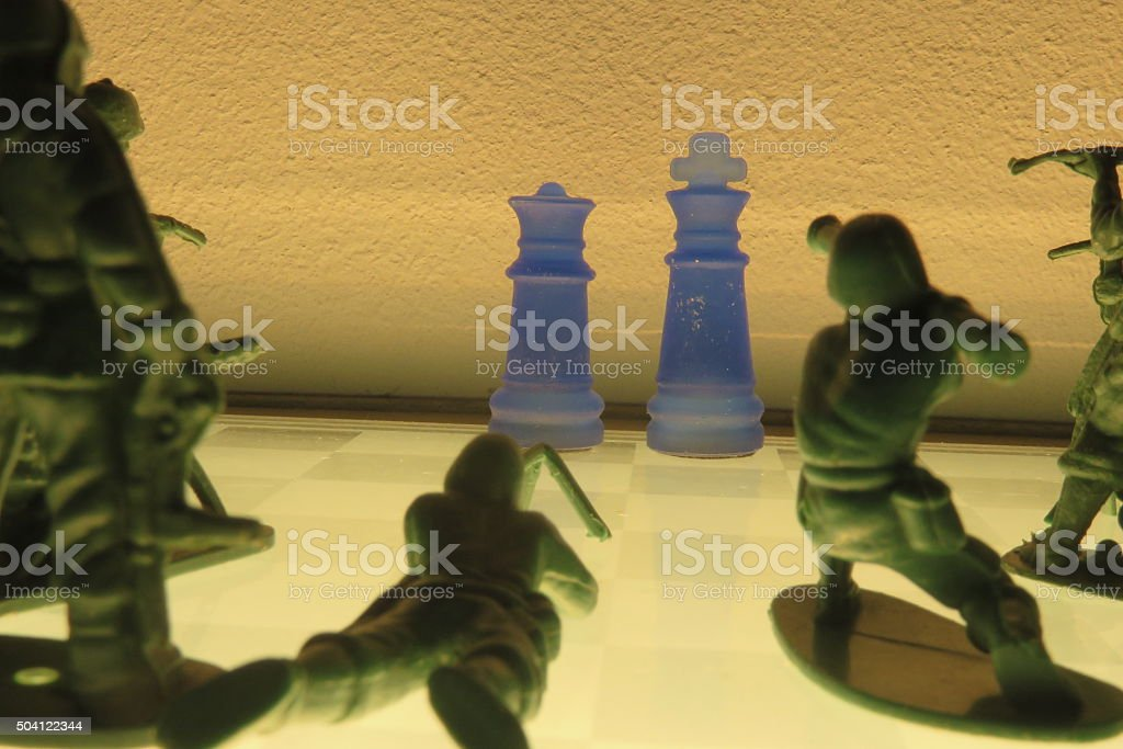 Kingdom Under Attack Concept stock photo