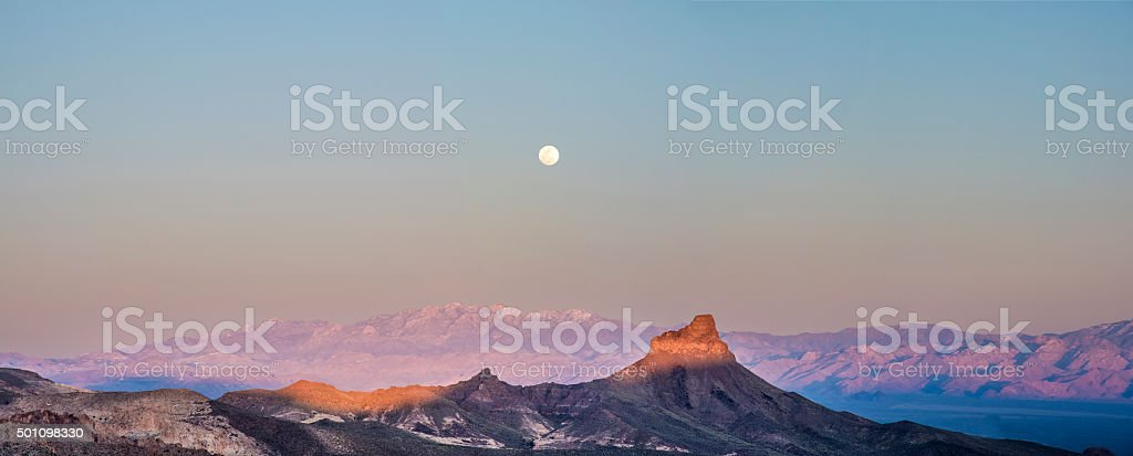 Kingman moon stock photo