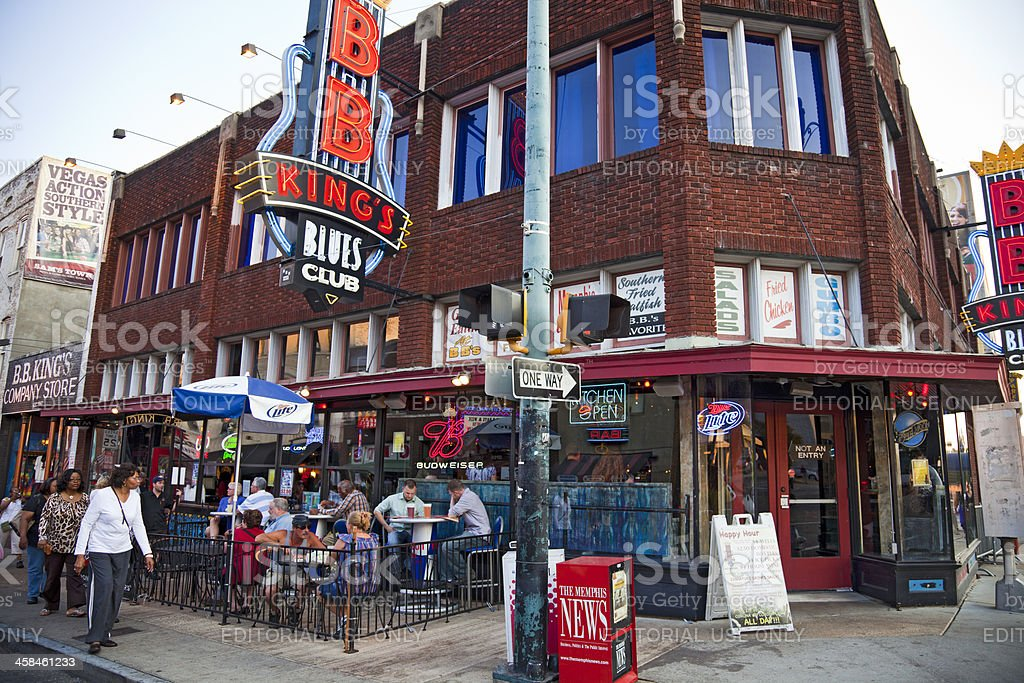 BB King's Blues Club Beale St Memphis Tennessee USA royalty-free stock photo