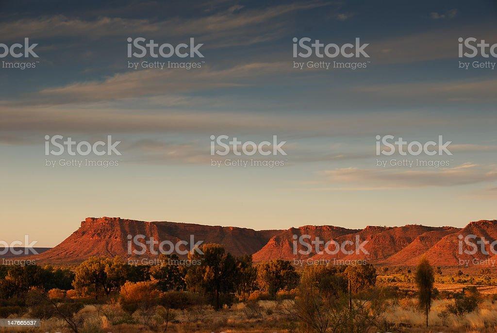 Kings Canyon at Sunset stock photo