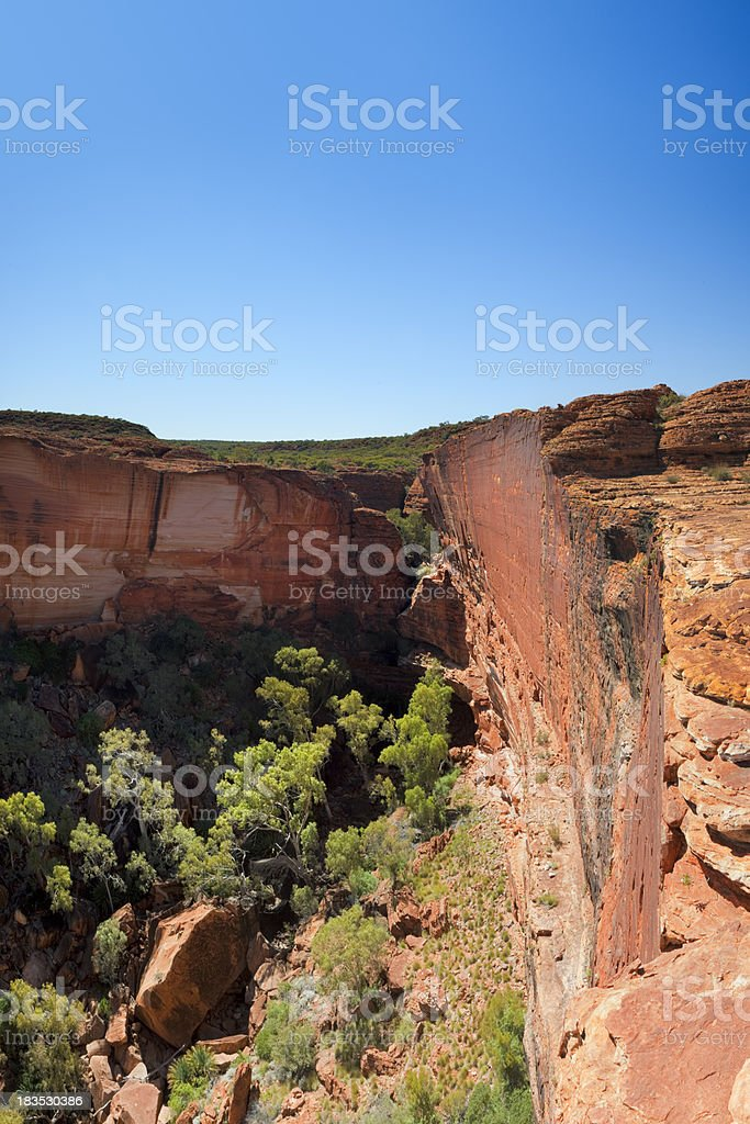 Kings Canyon in Northern Territory, Australia on a clear day royalty-free stock photo