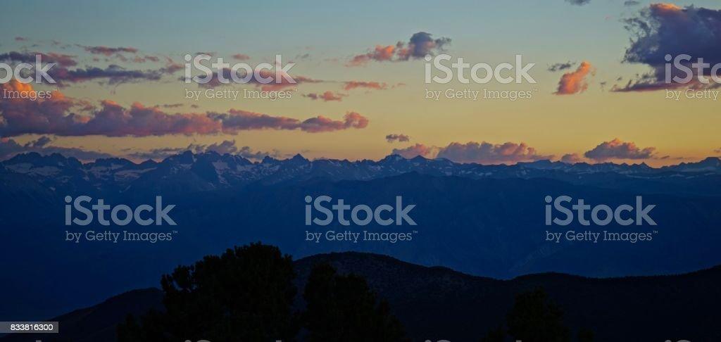 Kings Canyon National Park Mystic stock photo