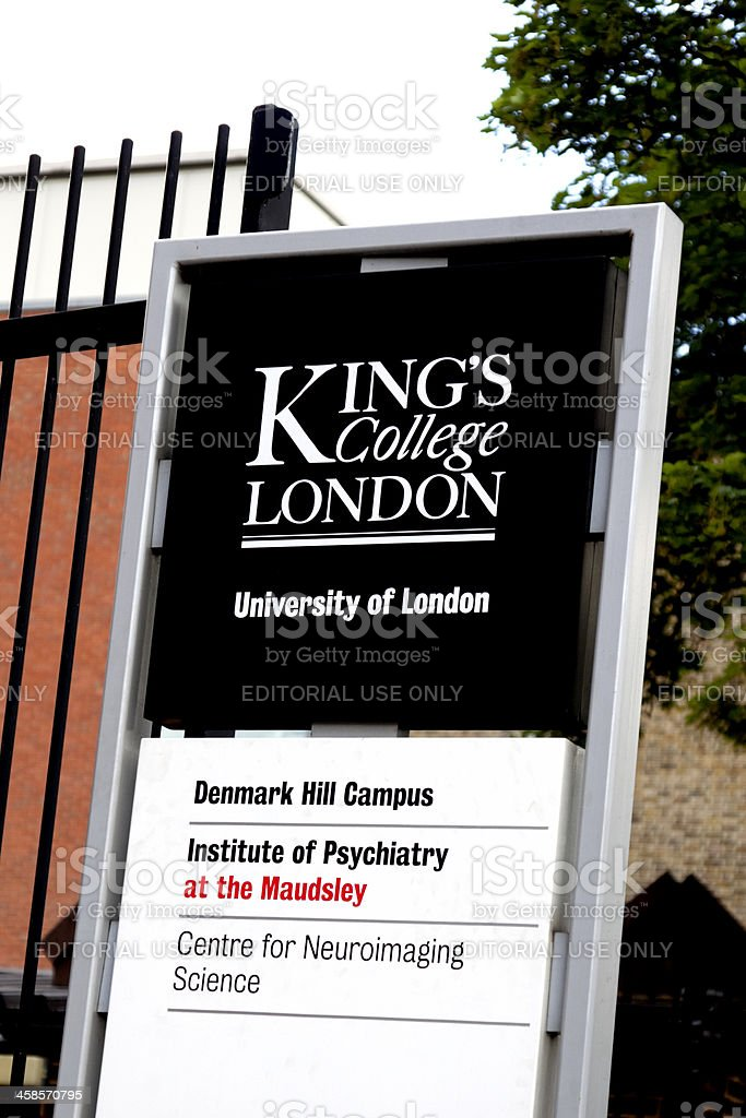 Kings College and Maudsley hospitals sign stock photo
