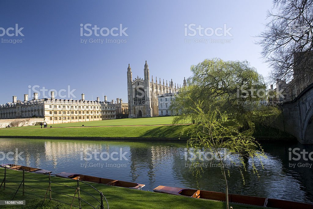 Kings College, Cambridge, from the Backs stock photo