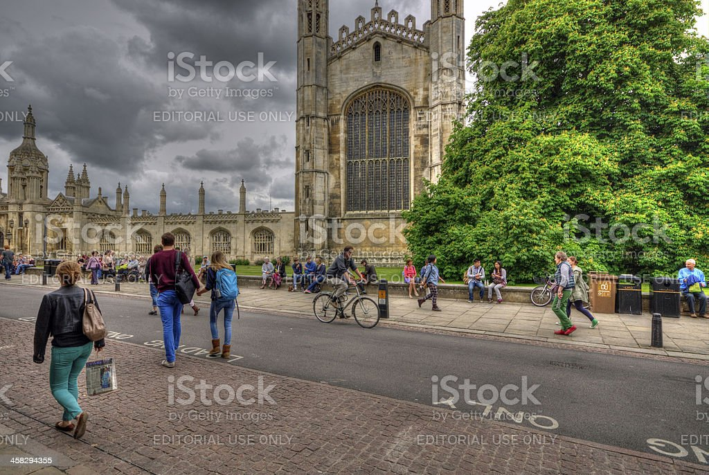 Kings College Cambridge royalty-free stock photo