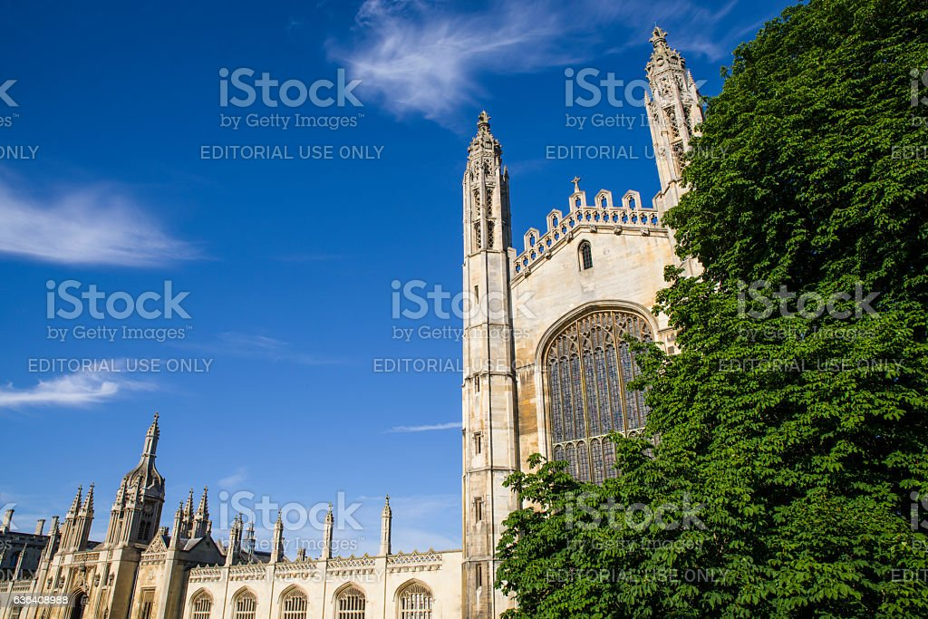 Kings College Cambridge stock photo