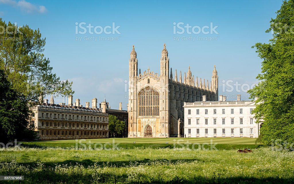 Kings College, Cambridge, UK stock photo