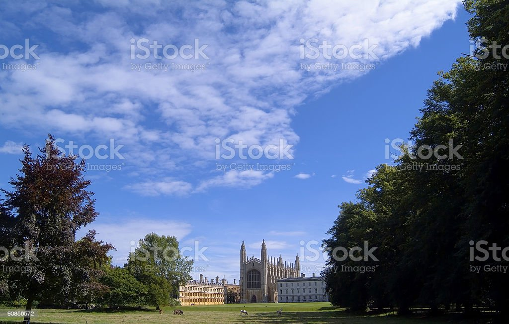 King's College Chapel, Cambridge royalty-free stock photo
