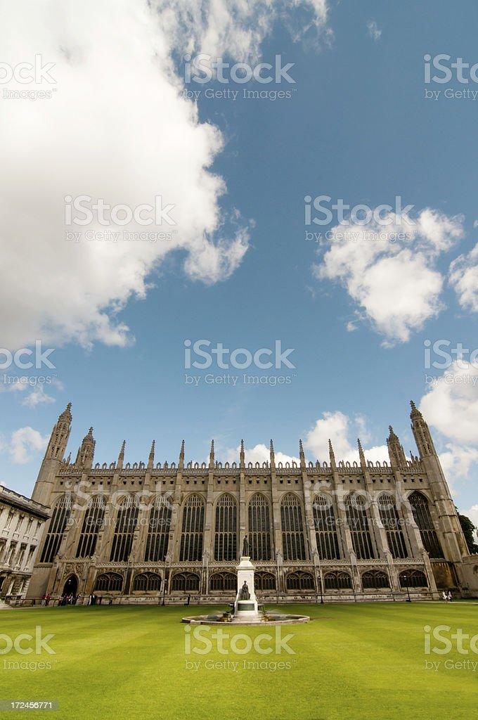 Kings College Chapel, Cambridge University royalty-free stock photo