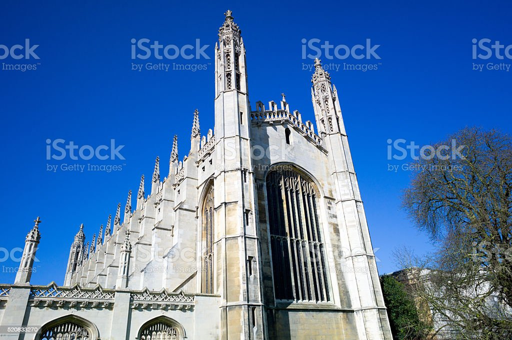 Kings college chapel, University of Cambridge stock photo