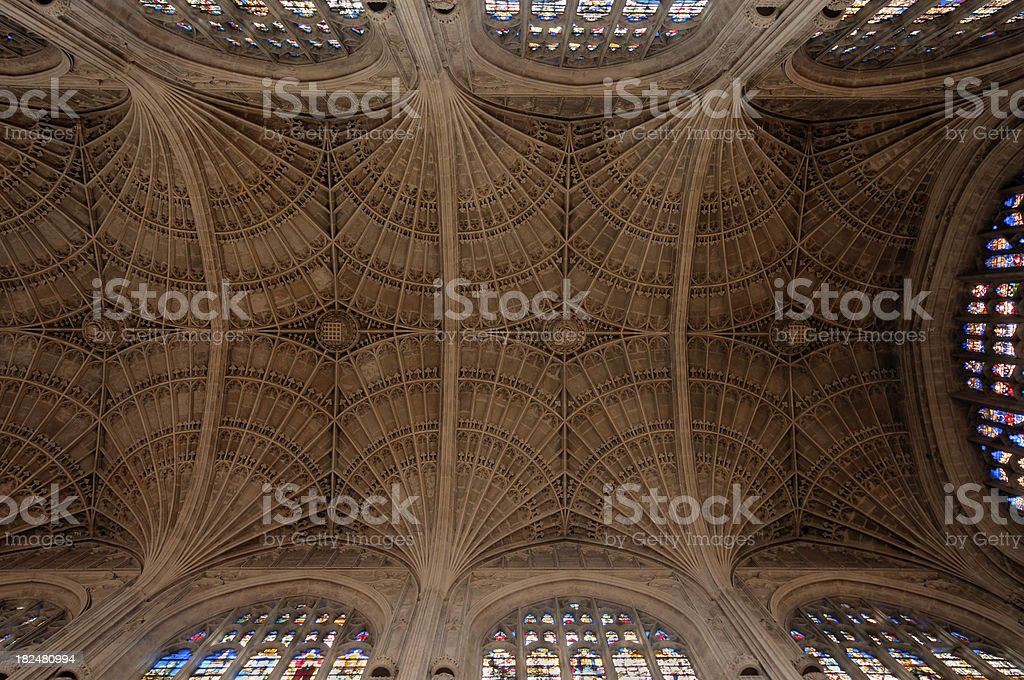 King's College Chapel vault HDR stock photo
