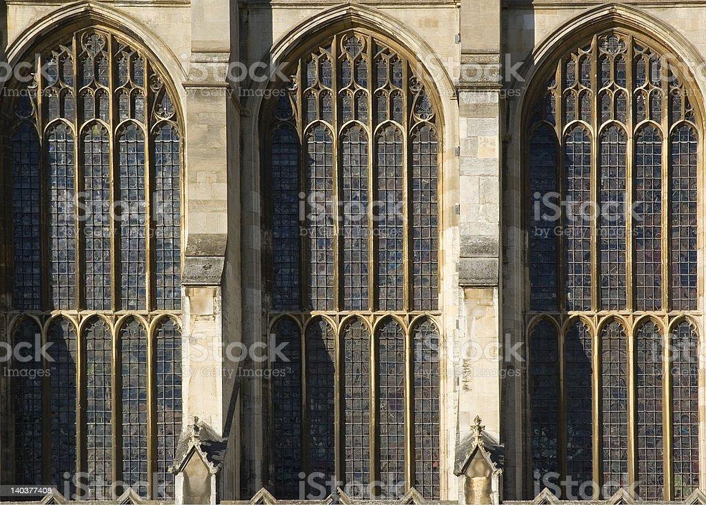 Kings College Chapel Windows royalty-free stock photo