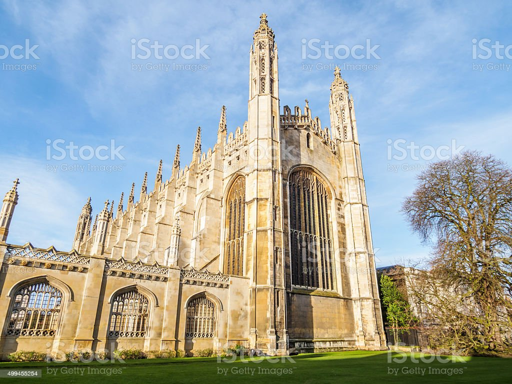Kings college chapel,University of Cambridge stock photo