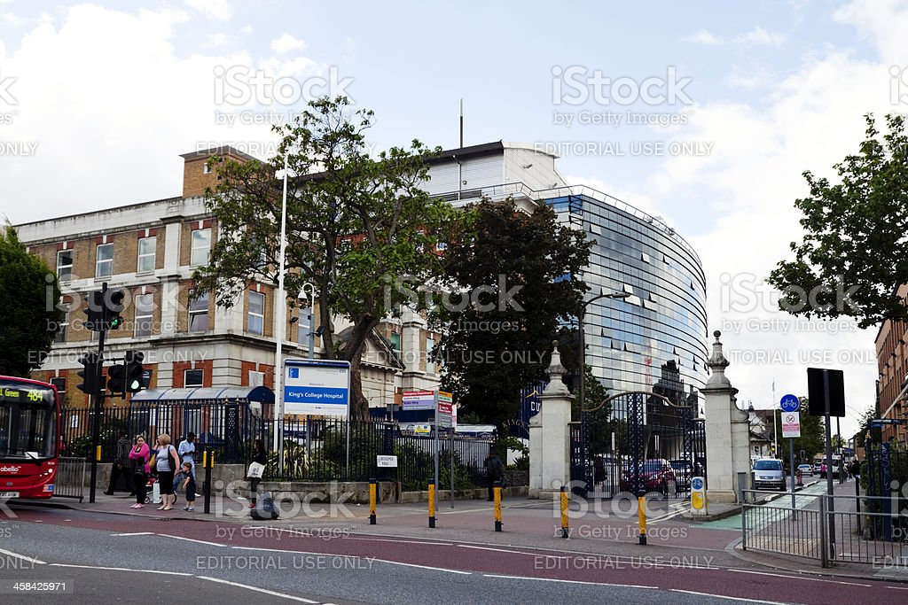 King's College Hospital, London stock photo