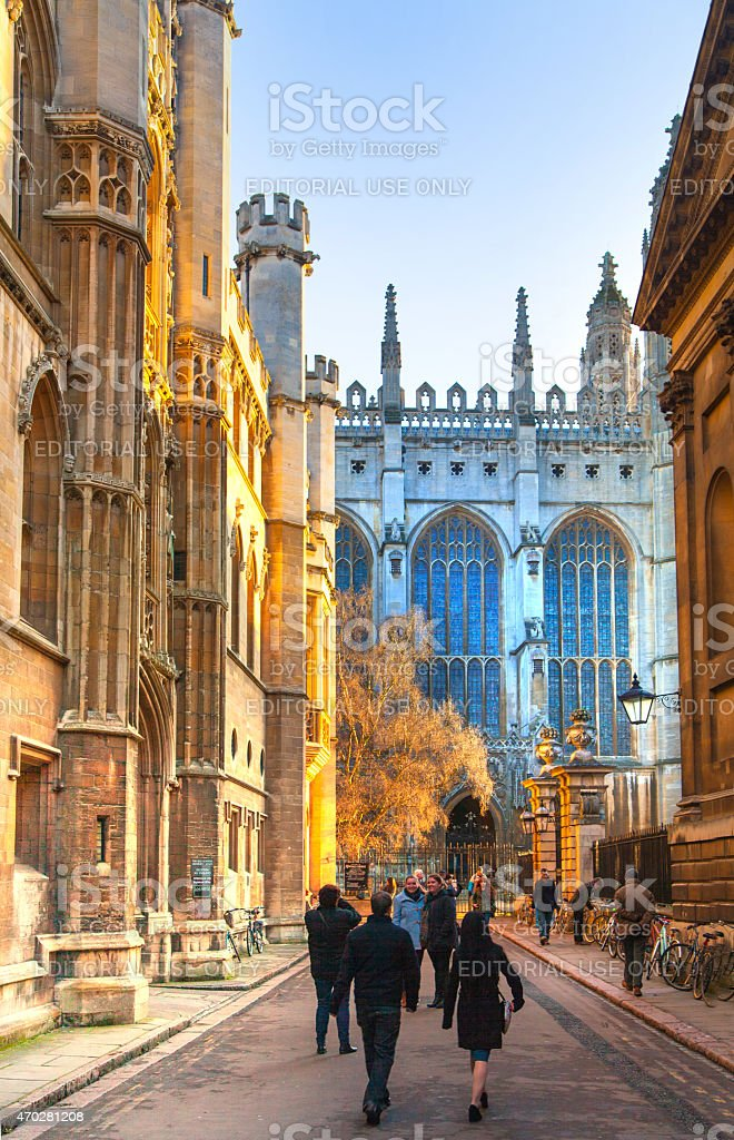 King's college started in 1446 by Henry VI, Cambridge stock photo
