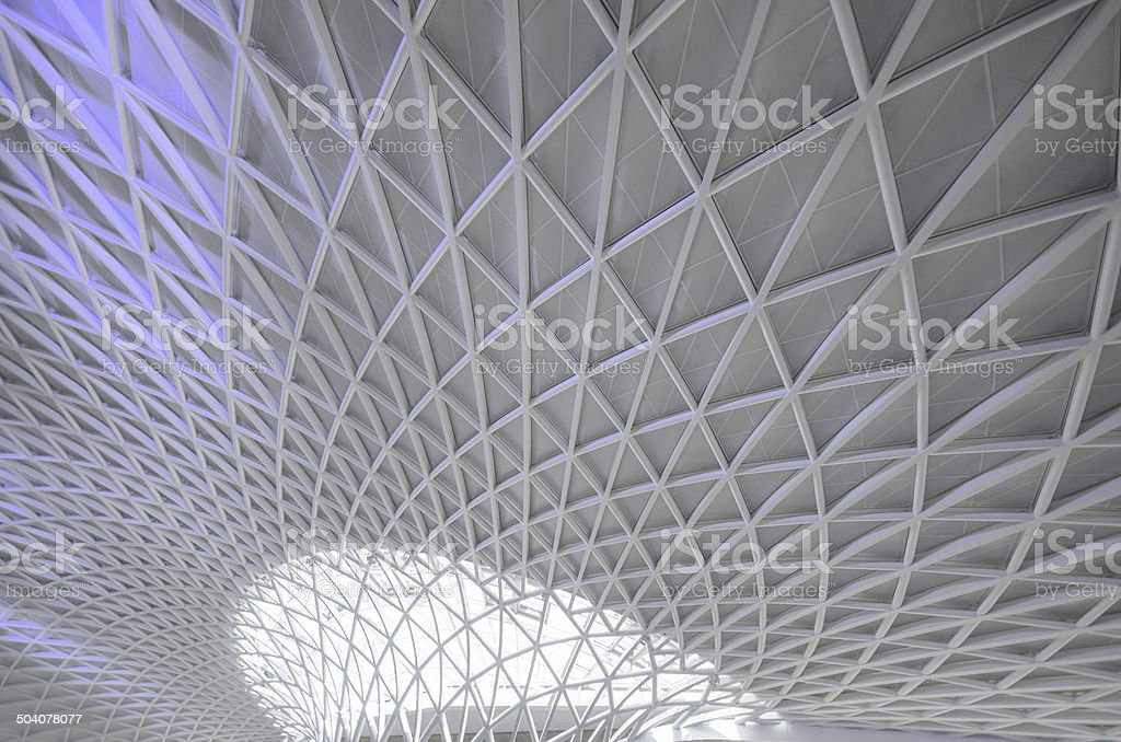 Kings Cross and St Pancras railway Station stock photo