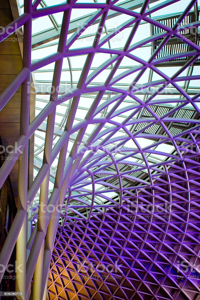 King's Cross and St Pancras Station stock photo