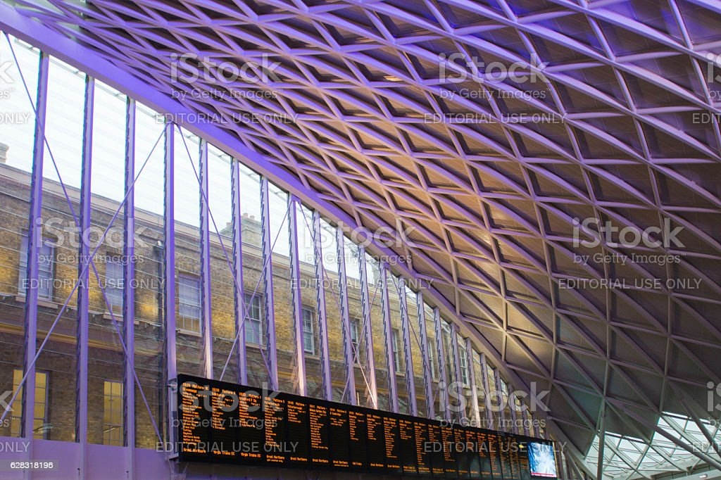 King's Cross and St Pancras Station roof stock photo