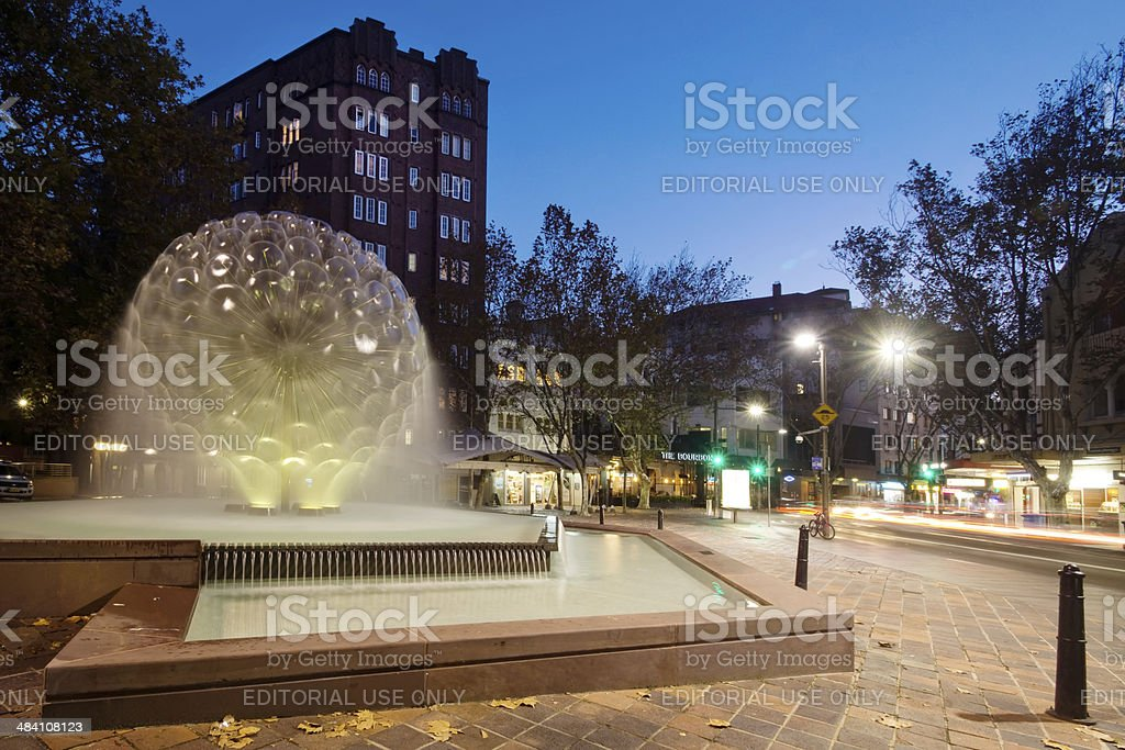 Kings Cross - El Alamein Fountain stock photo