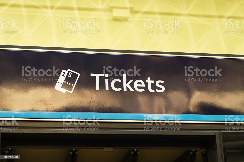 Kings Cross rail station stock photo