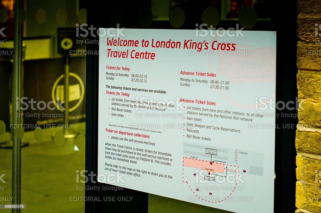 Kings Cross rail station stock photo