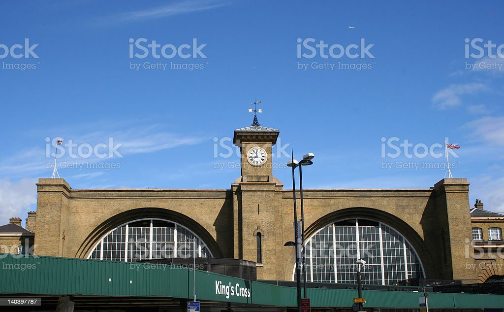 Kings Cross Railway Station, London stock photo
