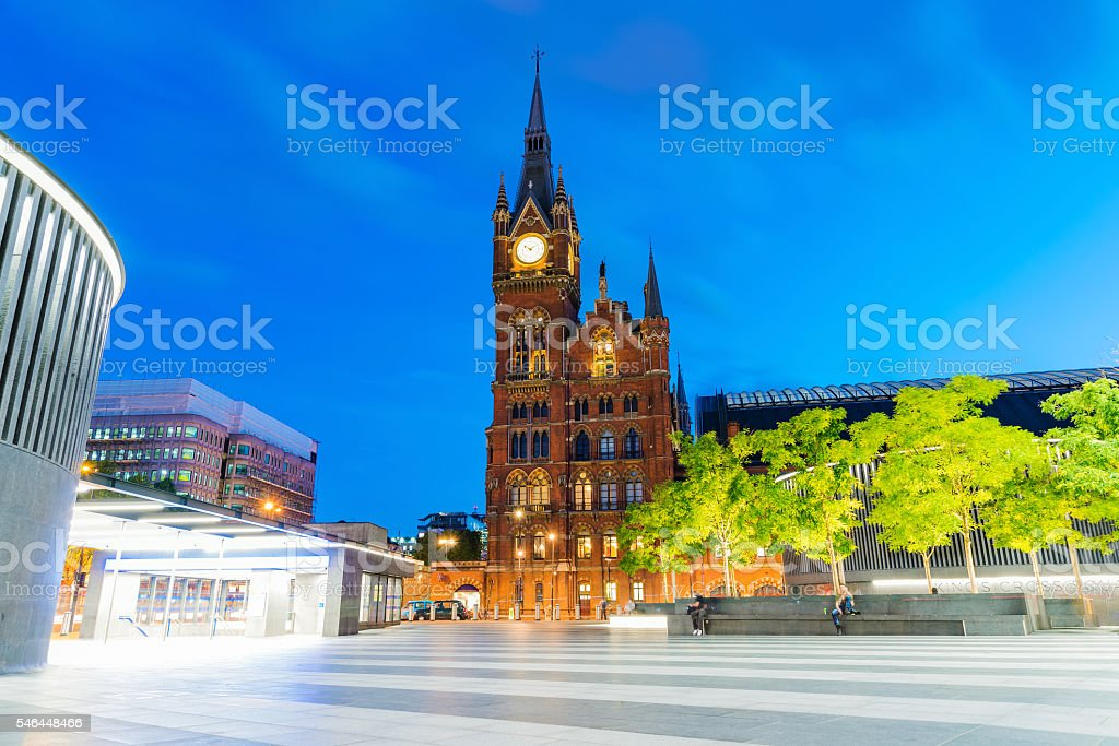 Kings cross station area stock photo