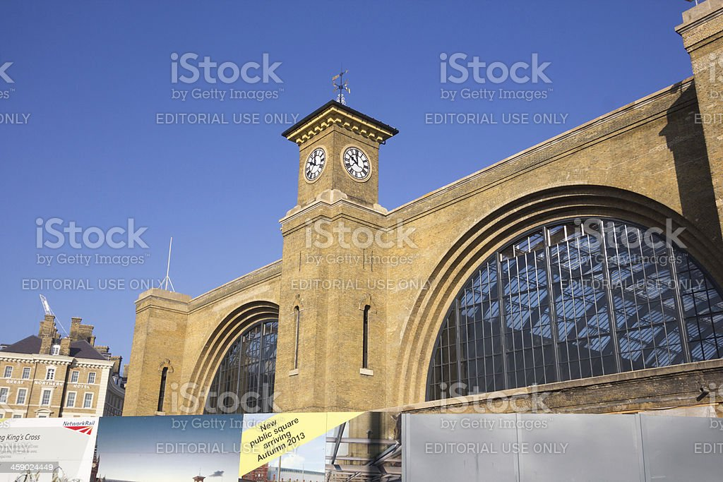 Kings Cross Station in London, England royalty-free stock photo