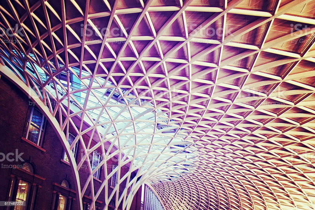 Kings Cross Station in London stock photo
