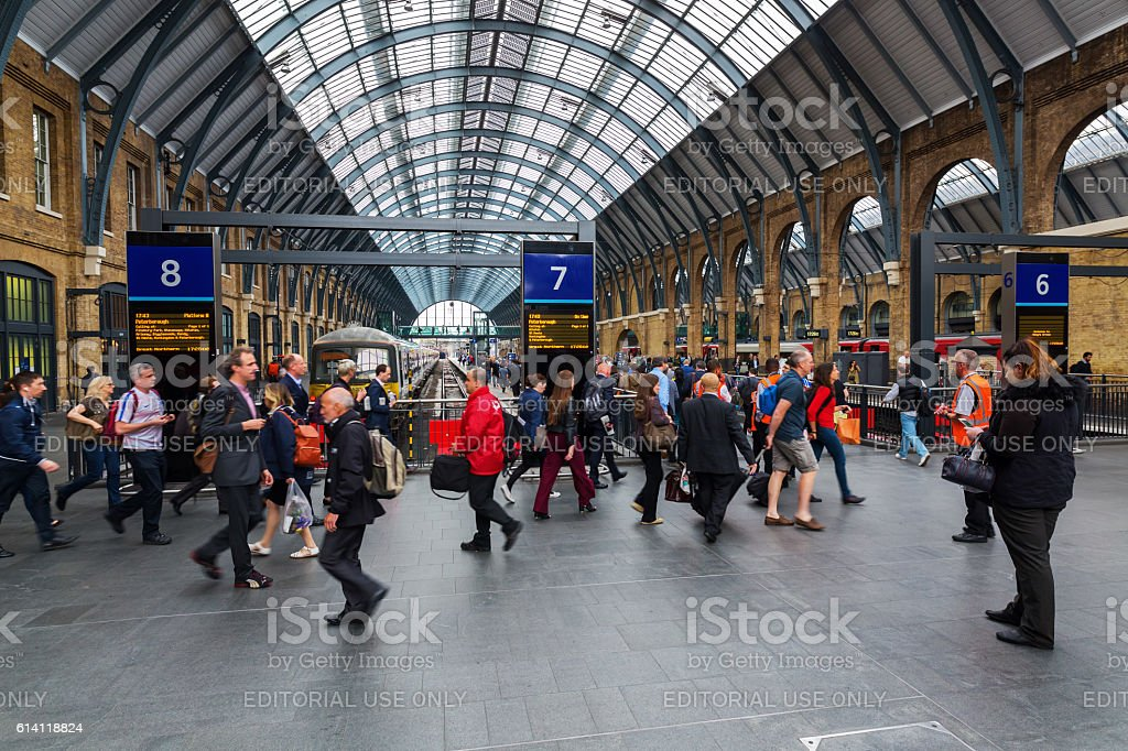 Kings Cross Station in London, UK stock photo