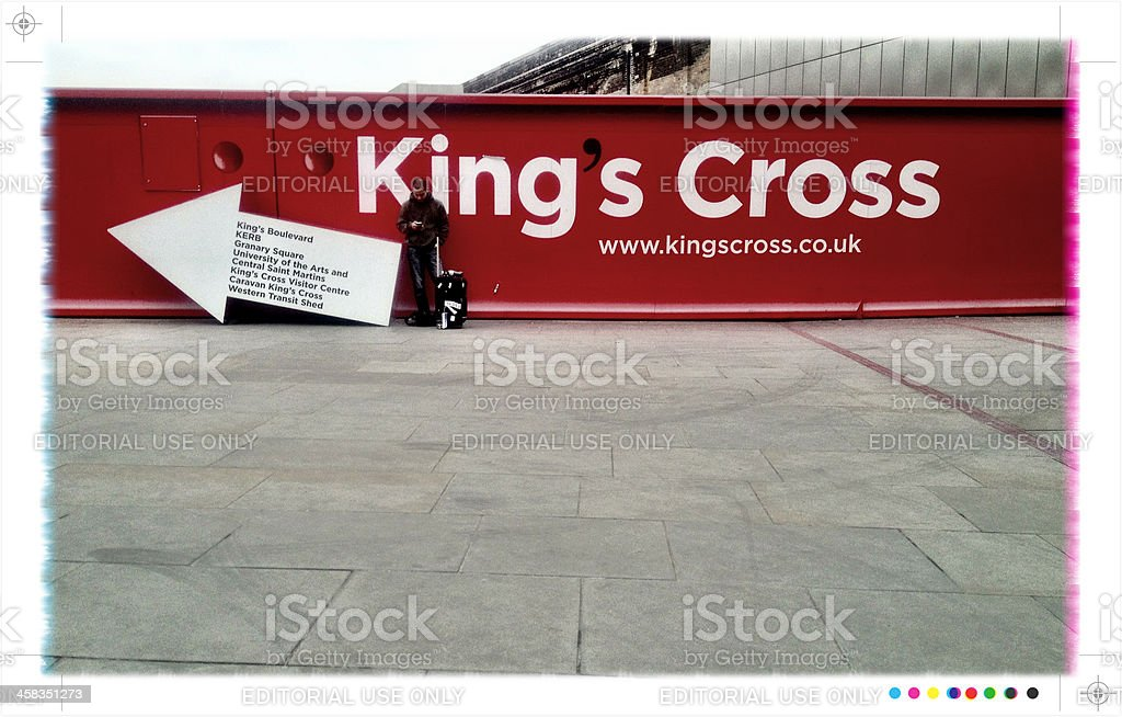 King's Cross station, London royalty-free stock photo