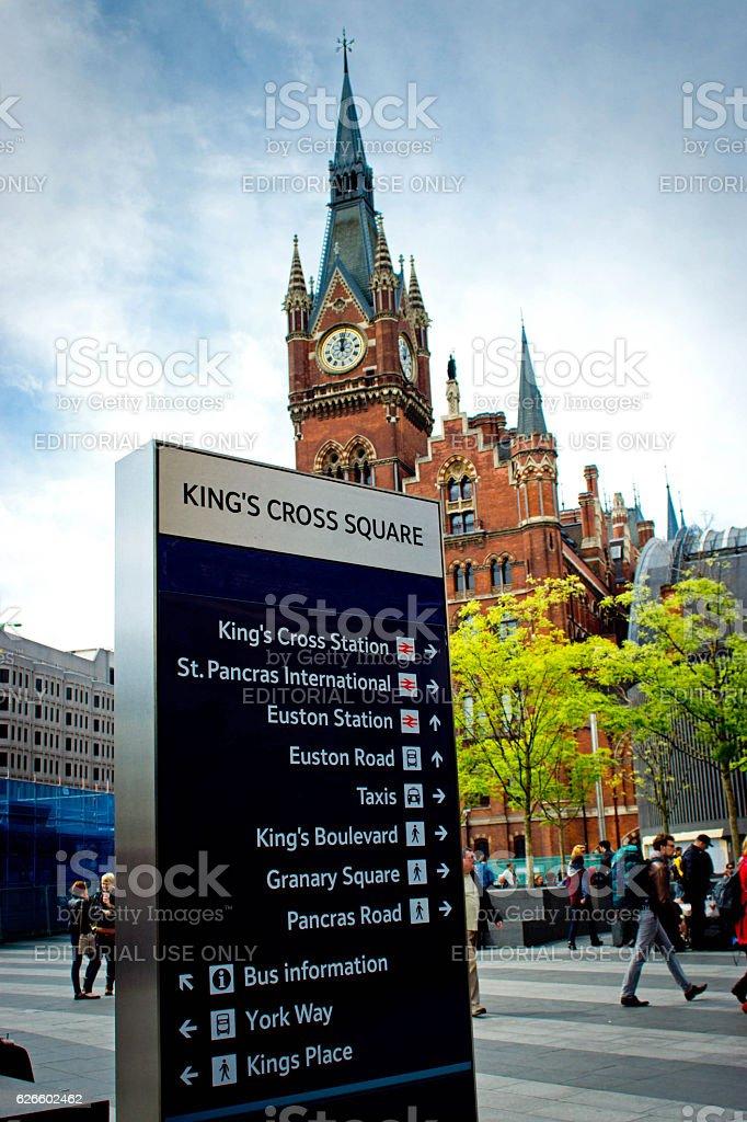 Kings Cross station stock photo
