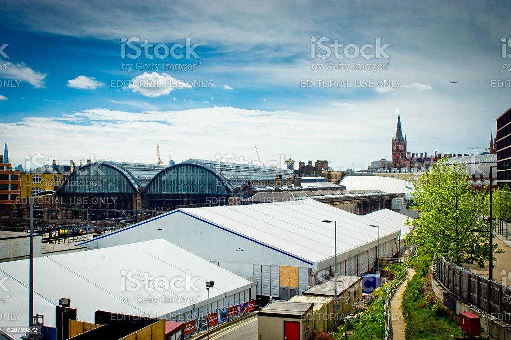 Kings Cross/St Pancras station stock photo