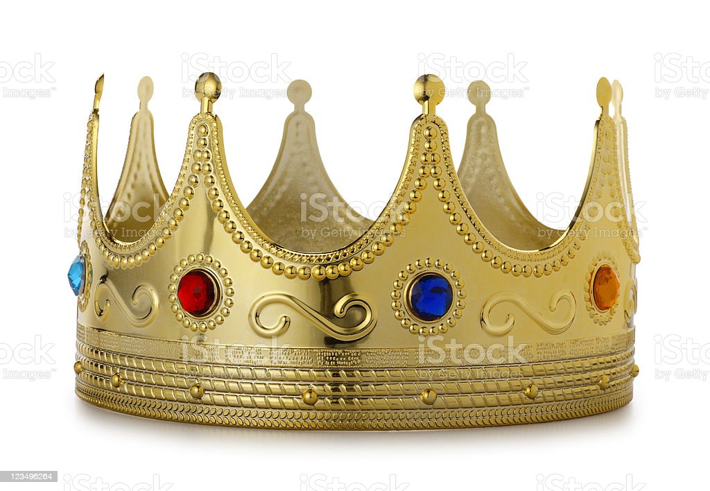 Kings Crown on White royalty-free stock photo