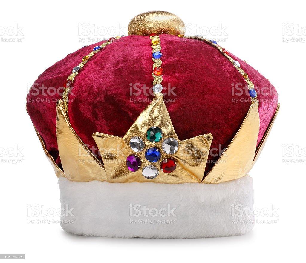 Kings Crown on White royalty-free stock photo