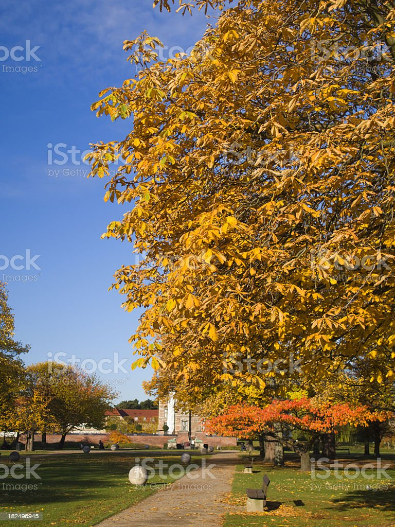 King's garden at fall stock photo