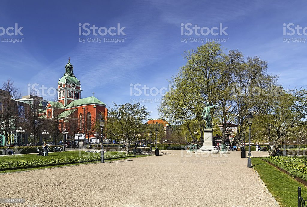 King's Garden, Stockholm stock photo