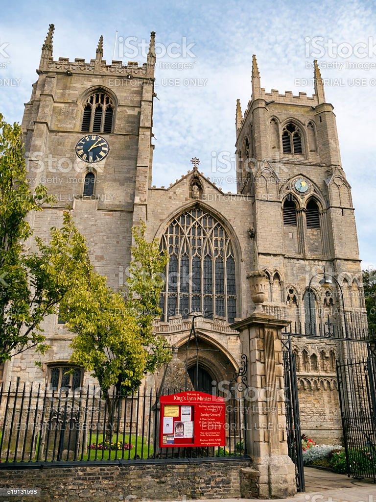 King's Lynn Minster, St Margaret's stock photo