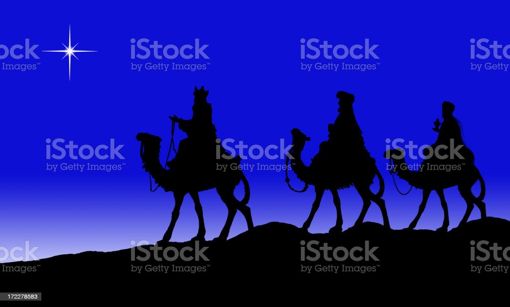 Kings on Camels XXL (PHOTOGRPAHED SILHOUETTE) stock photo