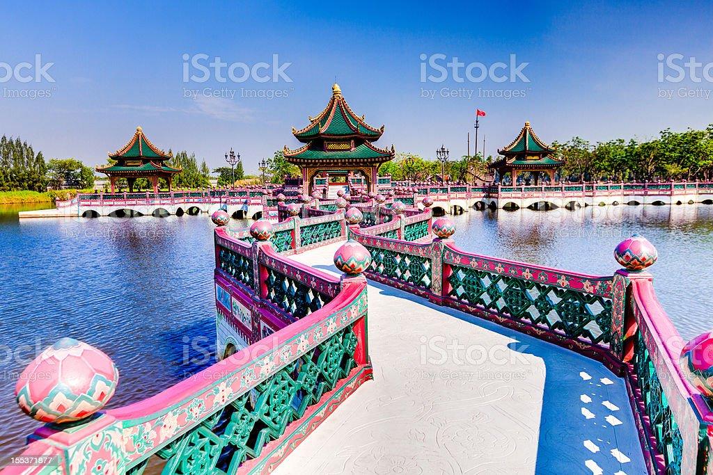 Kings Palace in Bangkok stock photo