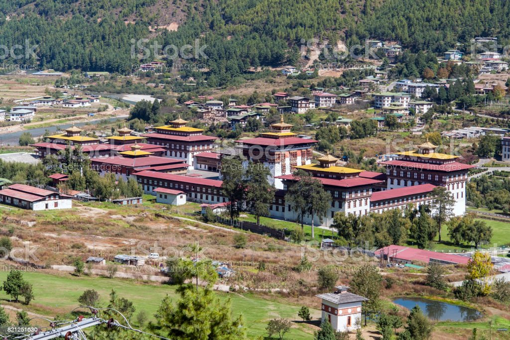 King's palace in Thimphu - Bhutan stock photo