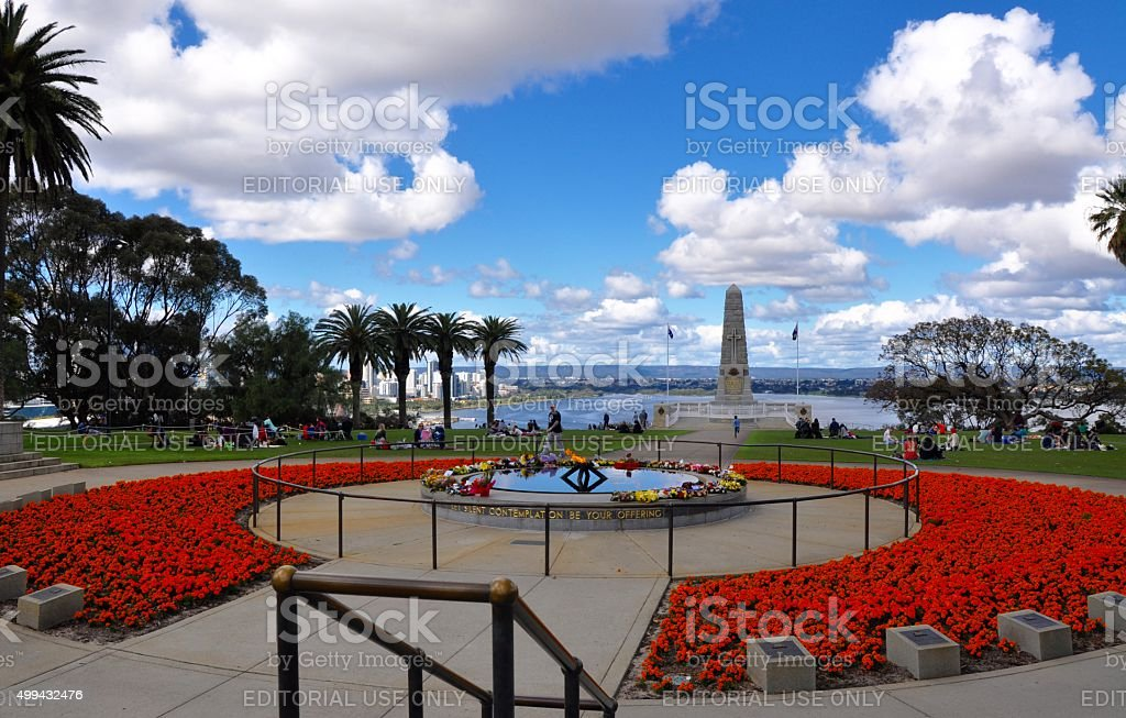King's Park and War Memorial in Perth stock photo