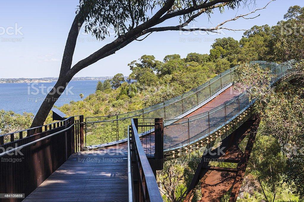 Kings Park Bridge in Perth Western Australia stock photo