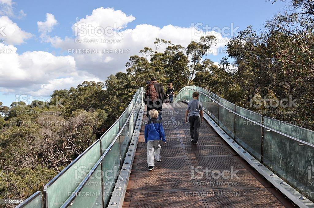King's Park Pedestrian Bridge stock photo
