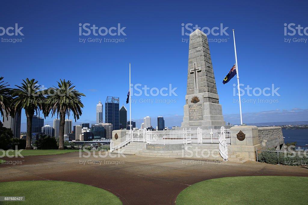 Kings Park War Memorial. Perth stock photo