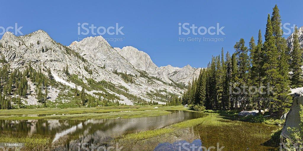 Kings River Panorama in the Sierra Nevada stock photo