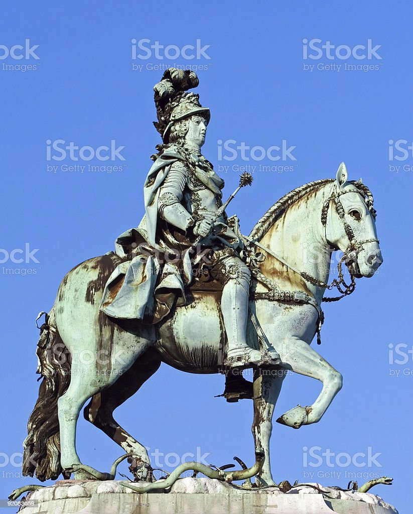 King's statue royalty-free stock photo